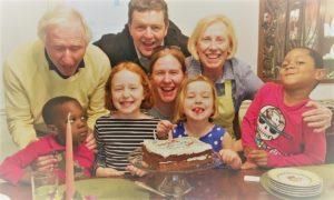 Bob Martin with his grandchildren